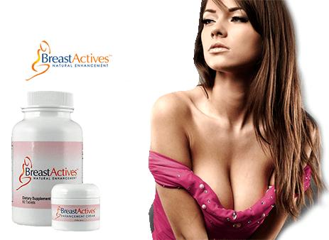Breast Actives system of enhancement pills plus cream